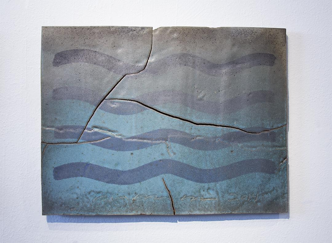 "Timelines, Ceramic panel 20"" x 24'5"""